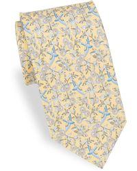 Ferragamo - Bird & Flower Silk Tie - Lyst