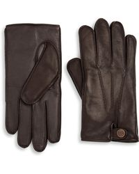UGG - Leather Gloves - Lyst