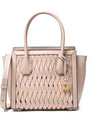 MICHAEL Michael Kors - Medium Leather Basket Weave Tote - Lyst