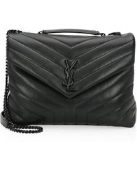 14d5e06fd Saint Laurent - Women's Medium Loulou Matelassé Leather Shoulder Bag - Black  - Lyst