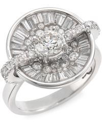 Plevé - Opus Ice Diamond & 18k White Gold Round Ring - Lyst