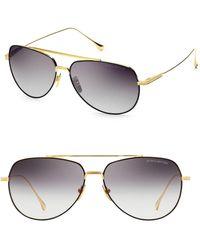 acf375b2c69c Dita Eyewear - Women s Flight 004 61mm Aviator Sunglasses - Black Yellow  Gold - Lyst