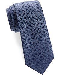 Charvet - Leaf Medallion Silk Narrow Tie - Lyst