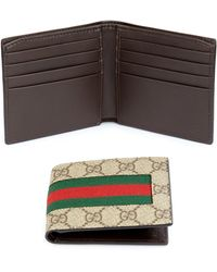 e9c3a3ec92c3 Lyst - Gucci Gg Chevron Canvas Bi-fold Wallet in Green for Men