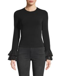 Alice + Olivia - Haylen Embellished Tiered Bell Sleeve Sweater - Lyst