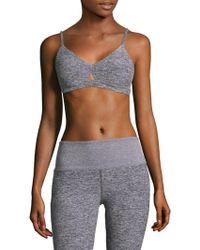 Alo Yoga - Heathered Lounge Bra - Lyst