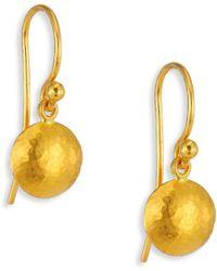 Gurhan - Lentil Small 24k Yellow Gold Drop Earrings - Lyst
