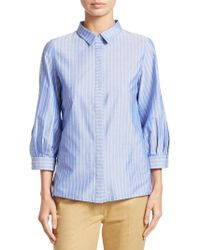 Gentry Portofino - Striped Button-front Shirt - Lyst