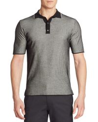 Saks Fifth Avenue - Striped Knit Polo - Lyst