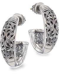 Konstantino - Sterling Silver Huggie Earrings - Lyst