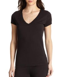 Skin - Easy V-neck Tee - Lyst