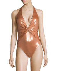 Gottex - Tourmaline One-piece V-neck Swimsuit - Lyst