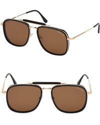 81dd7e3e74a Lyst - Tom Ford 5178 Square Optical Frames in Brown for Men