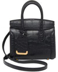 Alexander McQueen | Heroine 21 Mini Croc-embossed Leather Shopper | Lyst
