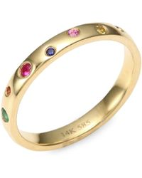 EF Collection - Rainbow Speck 14k Yellow Gold Ring - Lyst