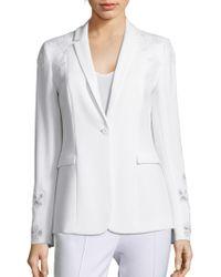 Elie Tahari - Mauricia Blazer Jacket W/ Floral Appliqué - Lyst