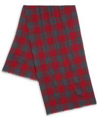 Saks Fifth Avenue - Check Print Merino Wool Scarf - Lyst
