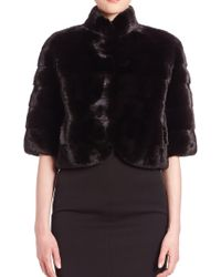 Saks Fifth Avenue - Mink Fur Bolero - Lyst