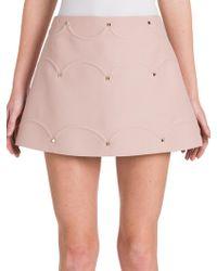 Valentino - Rockstud Scalloped A-line Skirt - Lyst
