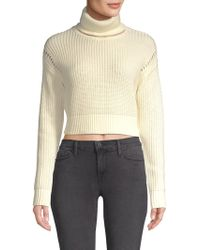 0be9e14218 Kendall + Kylie - Women s Cotton Ribbed Turtleneck - Red - Size Small - Lyst