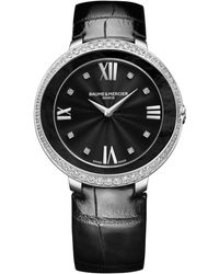 Baume & Mercier - Promesse 10166 Stainless Steel & Alligator Strap Watch - Lyst