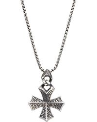 Stephen Webster | Sterling Silver Cross Necklace | Lyst