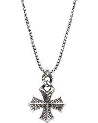 Stephen Webster - Sterling Silver Cross Necklace - Lyst