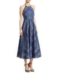 RED Valentino - Cotton Canvas Halter Dress - Lyst
