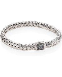 John Hardy - Classic Chain Medium Grey Sapphire & Sterling Silver Bracelet - Lyst