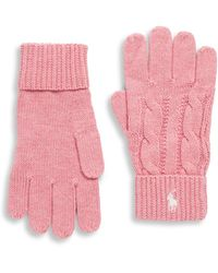 Ralph Lauren - Girl's Cable-knit Gloves - Lyst