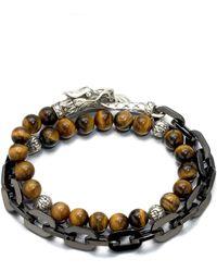 John Hardy | Naga Silver Beaded Bracelet | Lyst