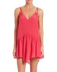Lazul | Braided-cord Short Silk Dress | Lyst