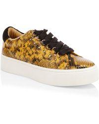 Joie - Handan Snake Print Sneakers - Lyst