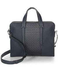 Ferragamo - Gancio Textured Leather Briefcase - Lyst