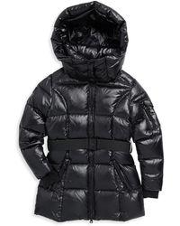 Sam. - Girl's Soho Belted Down Puffer Jacket - Gunmetal - Size 12 - Lyst