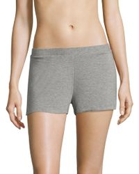 Saks Fifth Avenue - Maddie Heathered Jersey Boxers - Lyst