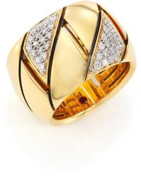 Roberto Coin - Appassionata Diamond, 18k Yellow Gold & 18k White Gold Ring - Lyst