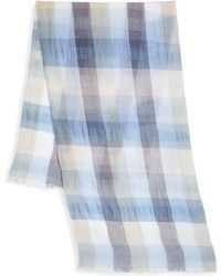 Saks Fifth Avenue - Collection Large Lightweight Scale Plaid Scarf - Lyst