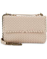 6063d461997f Bottega Veneta - Women s Small Olimpia Intrecciato Leather Chain Shoulder  Bag - Mink - Lyst