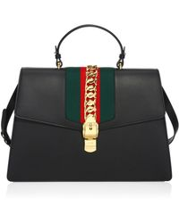 Gucci | Maxi Sylvie Leather Top Handle Bag | Lyst
