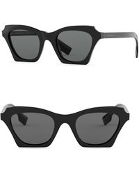 77f3f8619af Lyst - Burberry Metal Aviator Sunglasses in Black for Men
