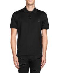 Alexander McQueen | Spread Collar Cotton Polo | Lyst