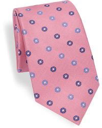 Saks Fifth Avenue - Collection Medallion Woven Silk Tie - Lyst