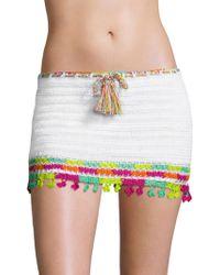 Anna Kosturova | Astral Nomad Cotton Mini Skirt | Lyst