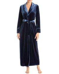 Jonquil - Velvet Long Robe - Lyst