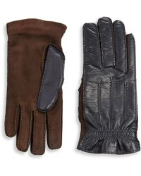 Brunello Cucinelli - Cashmere And Leather Gloves - Lyst
