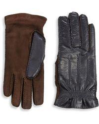 Brunello Cucinelli - Cashmere & Leather Gloves - Lyst