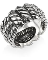King Baby Studio - Sterling Silver Monkey Knot Band Ring - Lyst