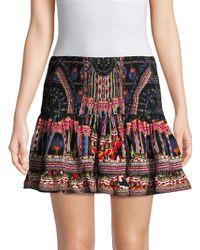 Camilla - Shirred Silk Mini Skirt - Lyst