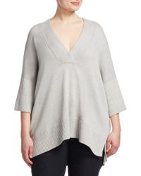 Lafayette 148 New York - Relaxed V-neck Sweater - Lyst